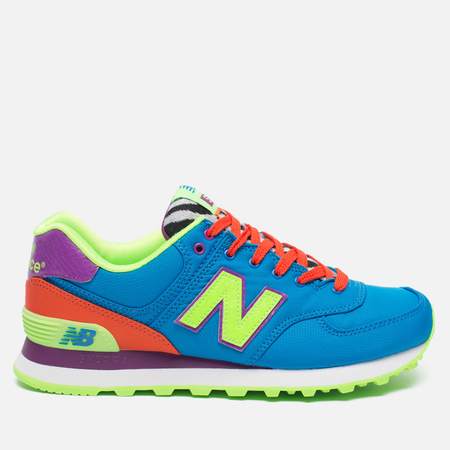 Женские кроссовки New Balance WL574BP Pop Safari Blue/Orange/Red