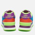 Женские кроссовки New Balance WL574BP Pop Safari Blue/Orange/Red фото- 3
