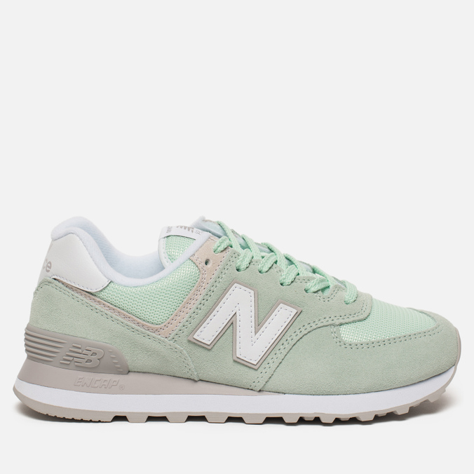 Женские кроссовки New Balance WL574ESM Core Plus Pastel Green/White