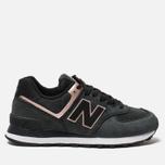 Женские кроссовки New Balance WL574NBK Black/Bronze фото- 0