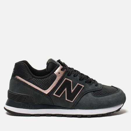 Женские кроссовки New Balance WL574NBK Black/Bronze