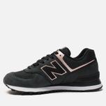 Женские кроссовки New Balance WL574NBK Black/Bronze фото- 1