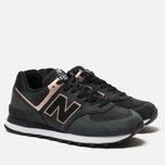 Женские кроссовки New Balance WL574NBK Black/Bronze фото- 2