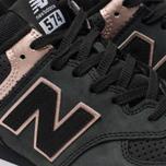 Женские кроссовки New Balance WL574NBK Black/Bronze фото- 6