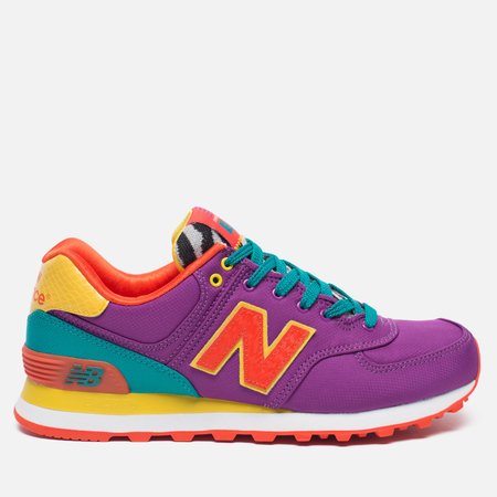 Женские кроссовки New Balance WL574PY Pop Safari Purple/Teal/Orange