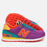 Женские кроссовки New Balance WL574PY Pop Safari Purple/Teal/Orange фото- 2