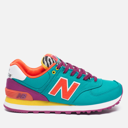 Женские кроссовки New Balance WL574RP Pop Safari Teal/Red/Yellow