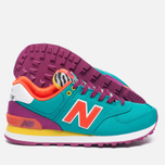 Женские кроссовки New Balance WL574RP Pop Safari Teal/Red/Yellow фото- 2