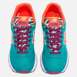 Женские кроссовки New Balance WL574RP Pop Safari Teal/Red/Yellow фото- 4