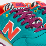 Женские кроссовки New Balance WL574RP Pop Safari Teal/Red/Yellow фото- 5