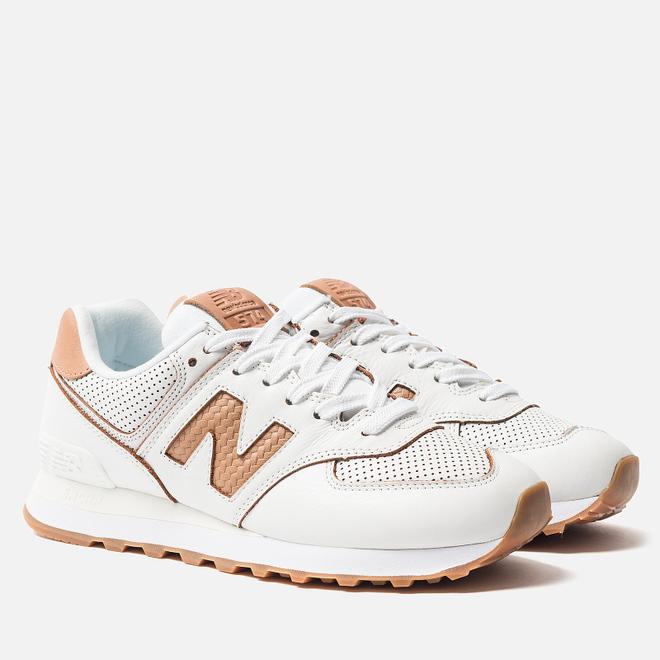 Женские кроссовки New Balance WL574WNG White/Brown