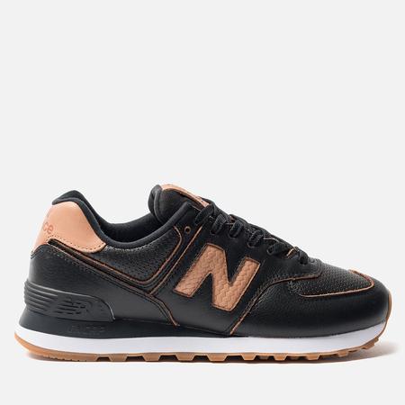 Женские кроссовки New Balance WL574WNH Black/Brown