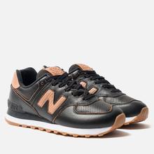 Женские кроссовки New Balance WL574WNH Black/Brown фото- 2