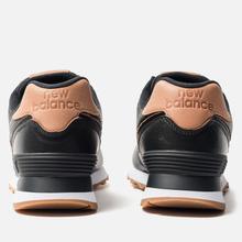Женские кроссовки New Balance WL574WNH Black/Brown фото- 3