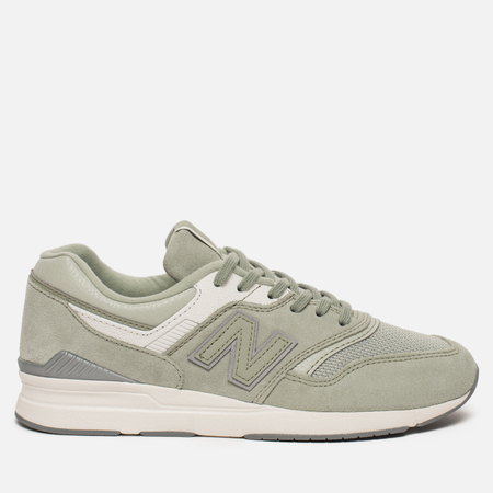 Женские кроссовки New Balance WL697CO Leather Silver Mint