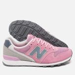 Женские кроссовки New Balance WR996GH Pink/Grey фото- 2