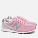 Женские кроссовки New Balance WR996GH Pink/Grey фото- 1