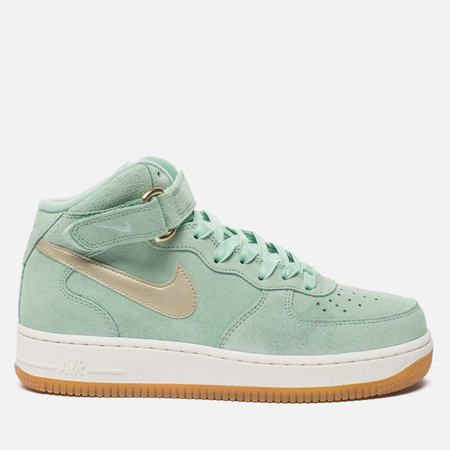 Женские кроссовки Nike Air Force 1 '07 Mid Seasonal Enamel Green/Metallic Gold Star/Sail