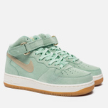 Женские кроссовки Nike Air Force 1 '07 Mid Seasonal Enamel Green/Metallic Gold Star/Sail фото- 1