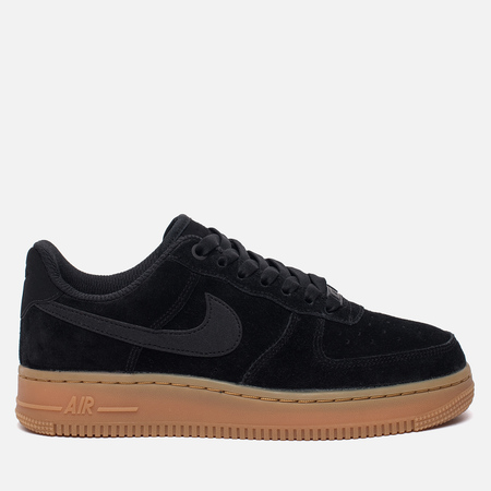 Женские кроссовки Nike Air Force 1 '07 SE Black/Black/Gum Medium Brown/Ivory
