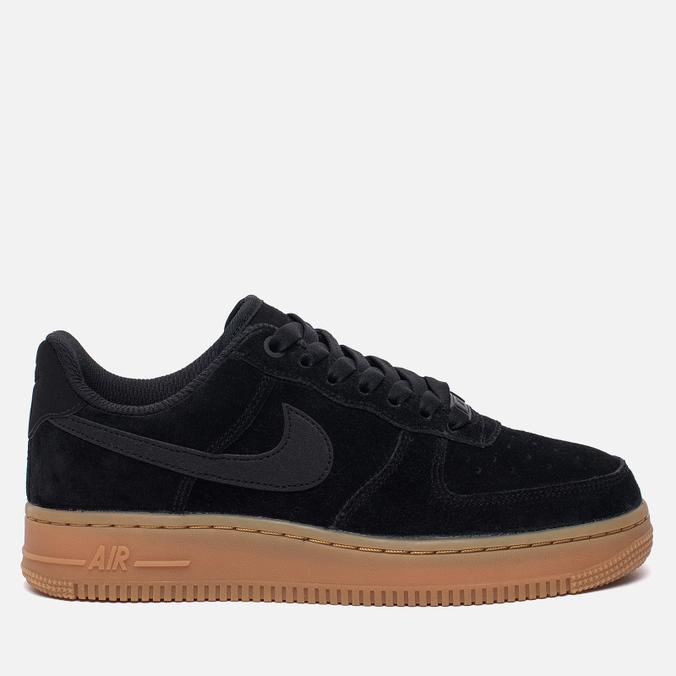 Женские кроссовки Nike Air Force 1 '07 SE Black/Black/Gum Medium Brown/Ivory