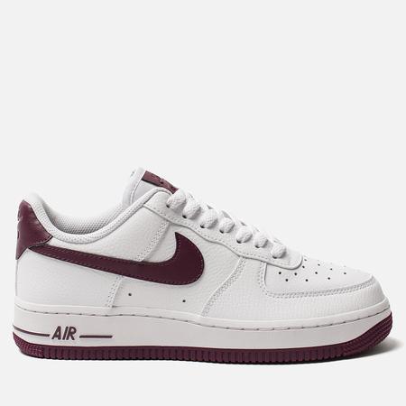 Женские кроссовки Nike Air Force 1 '07 White/Bordeaux