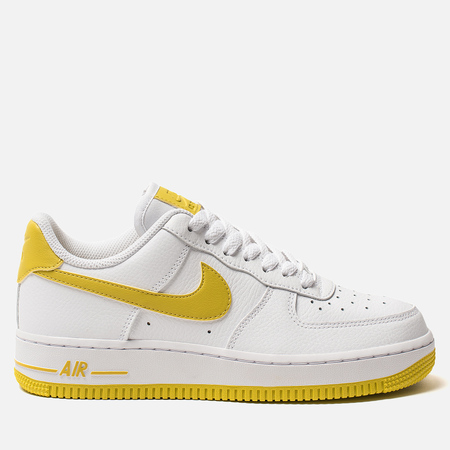 Женские кроссовки Nike Air Force 1 '07 White/Bright Citron