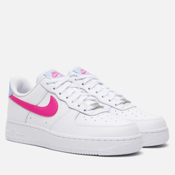 Женские кроссовки Nike Air Force 1 '07 White/Fire Pink/Hydrogen Blue
