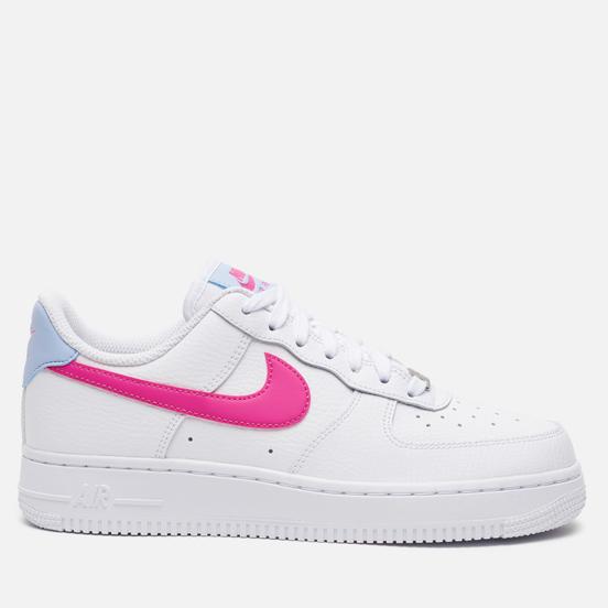 Женские кроссовки Nike Air Force 1 '07 White/Fire Pink/Hydrogen Blue