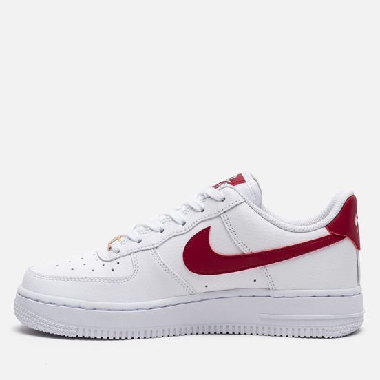 Женские кроссовки Nike Air Force 1 '07 White/Noble Red/White/White