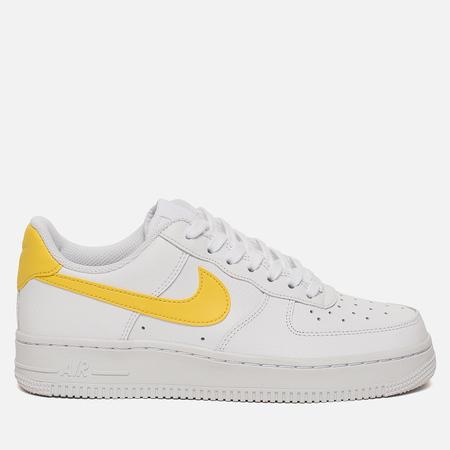 Женские кроссовки Nike Air Force 1 '07 White/Vivid Sulfur/White