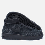 Женские кроссовки Nike Air Force 1 Flyknit Black/Black/White фото- 1