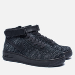 Женские кроссовки Nike Air Force 1 Flyknit Black/Black/White фото- 2