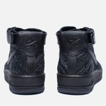 Женские кроссовки Nike Air Force 1 Flyknit Black/Black/White фото- 3