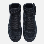 Женские кроссовки Nike Air Force 1 Flyknit Black/Black/White фото- 4