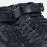 Женские кроссовки Nike Air Force 1 Flyknit Black/Black/White фото- 5