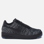 Женские кроссовки Nike Air Force 1 Flyknit Low Black/Black/White фото- 0