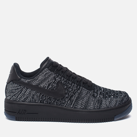 Женские кроссовки Nike Air Force 1 Flyknit Low Black/Black/White