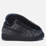 Женские кроссовки Nike Air Force 1 Flyknit Low Black/Black/White фото- 1