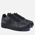 Женские кроссовки Nike Air Force 1 Flyknit Low Black/Black/White фото- 2