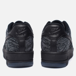 Женские кроссовки Nike Air Force 1 Flyknit Low Black/Black/White фото- 3