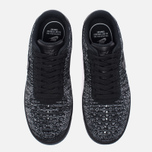 Женские кроссовки Nike Air Force 1 Flyknit Low Black/Black/White фото- 4
