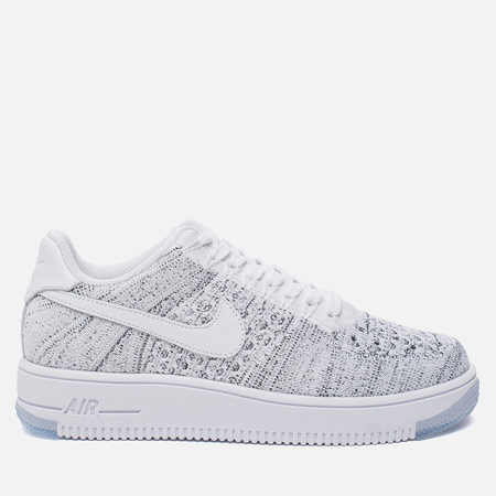 Женские кроссовки Nike Air Force 1 Flyknit Low White/White/Black