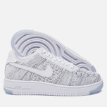 Женские кроссовки Nike Air Force 1 Flyknit Low White/White/Black фото- 1