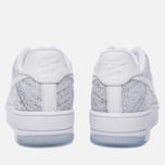 Женские кроссовки Nike Air Force 1 Flyknit Low White/White/Black фото- 3