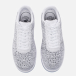 Женские кроссовки Nike Air Force 1 Flyknit Low White/White/Black фото- 4