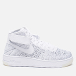 Женские кроссовки Nike Air Force 1 Flyknit White/White/Black фото- 0