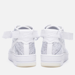 Женские кроссовки Nike Air Force 1 Flyknit White/White/Black фото- 3