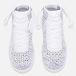 Женские кроссовки Nike Air Force 1 Flyknit White/White/Black фото- 4