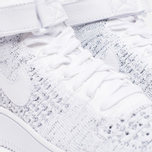 Женские кроссовки Nike Air Force 1 Flyknit White/White/Black фото- 5